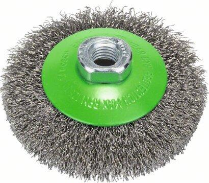 Kegelbürste Clean for Inox gewellter Draht