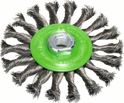 Scheibenbürste Heavy for Inox gezopfter Draht