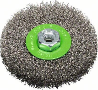 Scheibenbürste Clean for Inox gewellter Draht