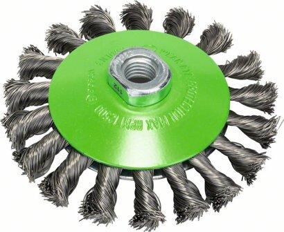 Kegelbürste Heavy for Inox gezopfter Draht