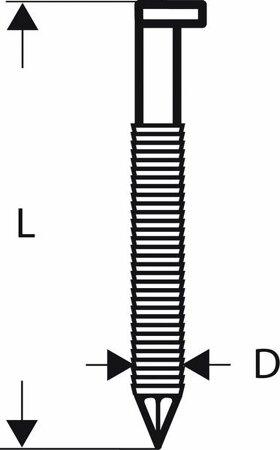 D-Kopf Streifennagel SN34DK