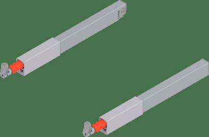 TANDEMBOX antaro Längsreling-Set für Frontauszug oben