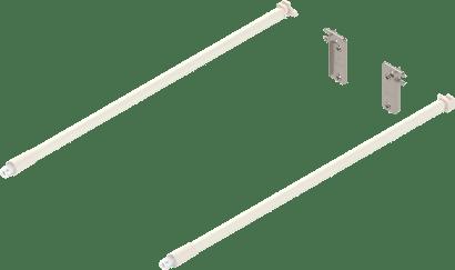 Längsrelingset Inserta mit Rückwandhalter für METABOX