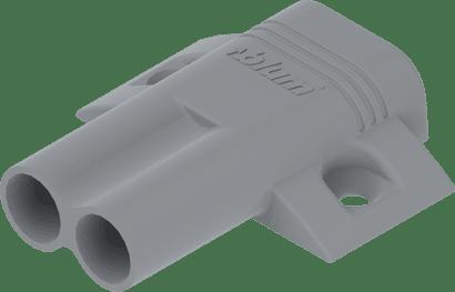 Kreuz-Doppeladapterplatte Platingrau für Spax