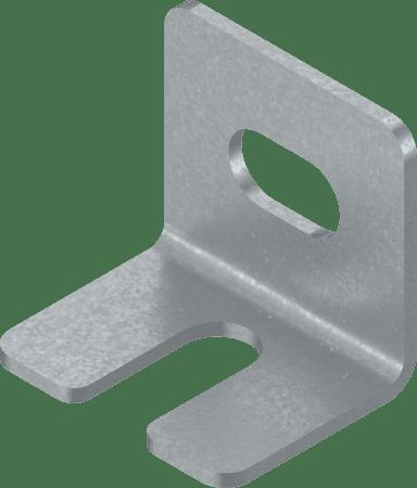 L-Winkel zur Bodenabstützung für TANDEMboxen