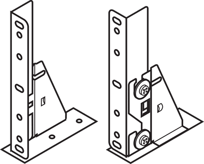 Frontplatten mit Winkel zum Aufschrauben