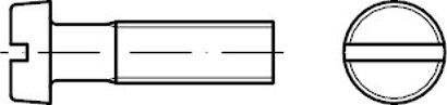 ISO 1207 Edelstahl A4 Zylinderschrauben mit Schlitz