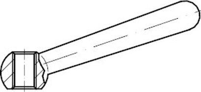DIN 99 Form N Edelstahl A2 Kegelgriffe mit Gewinde-Griffaufnahme