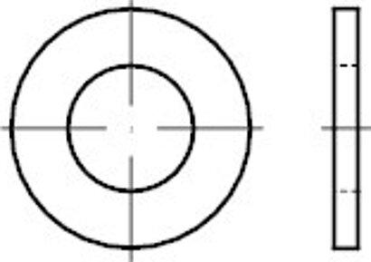 DIN 125-1 Form A gestanzt Stahl galvanisch verzinkt 140 HV Scheiben