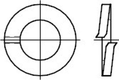 DIN 127 Form A Federstahl galvanisch verzinkt Federringe