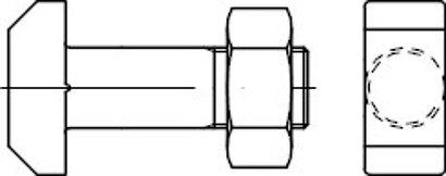 DIN 261 Form Mu Stahl blank 4.6 Hammerschrauben