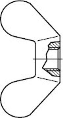 DIN 315 mit runder Flügelform Temperguss GT/Stahl galvanisch vz Flügelmuttern