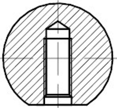 DIN 319 Form C Kunststoff schwarz Kugelköpfe