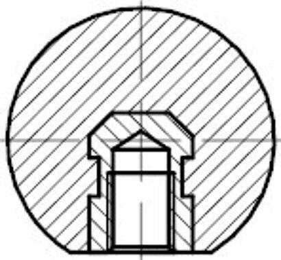 DIN 319 Form E Kunststoff schwarz Messing-Gewindebuchse Kugelköpfe