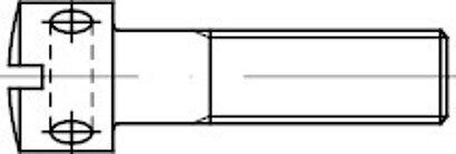 DIN 404 Edelstahl A1 1.4305 Kreuzlochschraube mit Schlitz