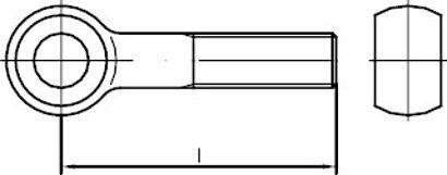 DIN 444 Form B mit Schaft  Edelstahl A2 Augenschrauben