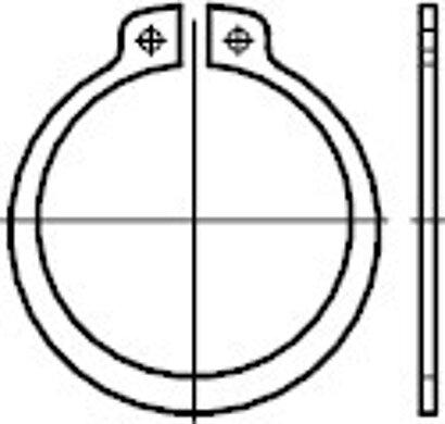 DIN 471 Regelausführung Stahl blank Sicherungsringe für Wellen