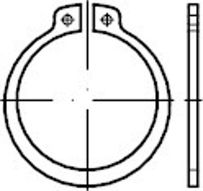 DIN 471 schwere Ausführung Stahl blank Sicherungsringe für Wellen