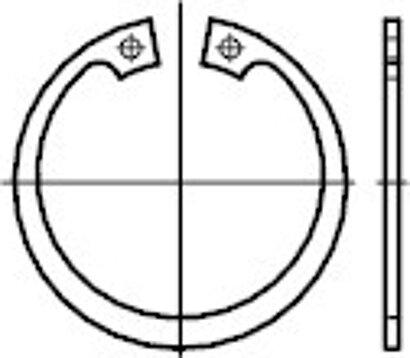 DIN 472 Regelausführung Edelstahl 1.4122 Sicherungsringe für Bohrungen