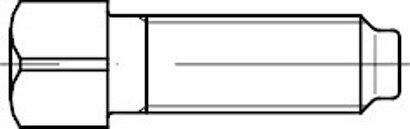DIN 479 Stahl 8.8 blank Vierkantschrauben mit Kernansatz