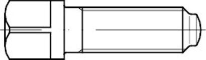 DIN 480 Stahl 10.9 blank Vierkantschrauben mit Bund und Ansatzkuppe