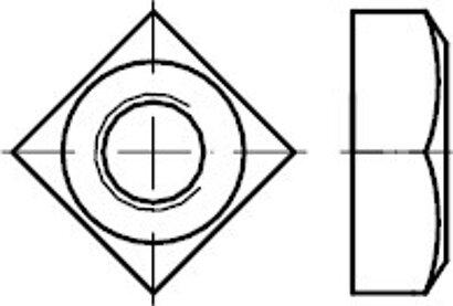 DIN 557 Edelstahl A2 Vierkantmuttern