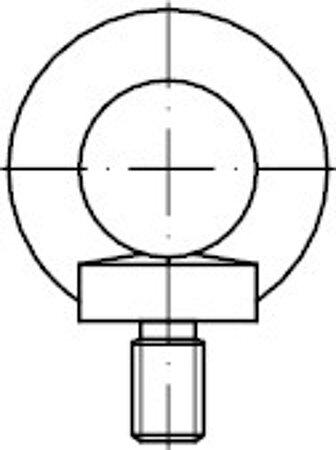 DIN 580 Stahl C15E galvanisch verzinkt Ringschrauben