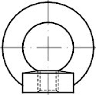 DIN 582 Stahl C15E galvanisch verzinkt Ringmuttern