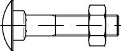 DIN 603 Mu Stahl 4.6 galvanisch verzinkt Flachrundschrauben mit Vierkantansatz