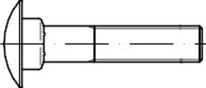 DIN 603 Edelstahl A2 Flachrundschrauben mit Vierkantansatz