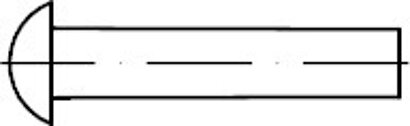 DIN 660 Messing blank Halbrundniete
