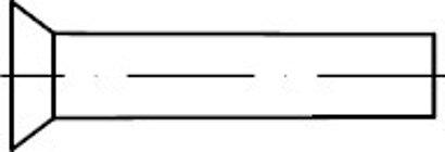 DIN 661 Stahl blank Senkniete