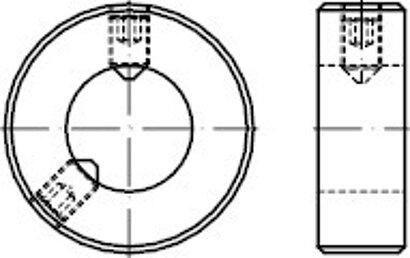 DIN 703 Stahl blank Stellringe schwere Reihe mit Gewindestift