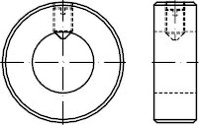 DIN 705 Stahl Form A Stellringe leichte Reihe, mit Gewindestift DIN 553/ISO 7434