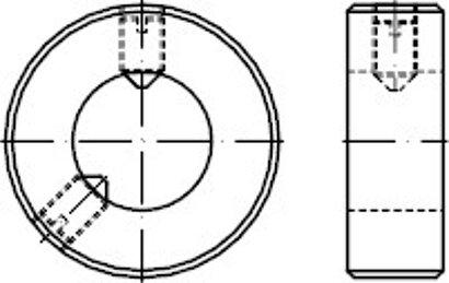 DIN 705 Stahl Form A Stellringe mit Gewindestift DIN 914/ISO 4027