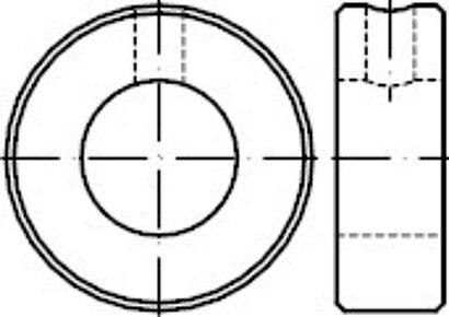 DIN 705 Stahl Form A galvanisch verzinkt Stellringe mit Gewindestift ISO 4027