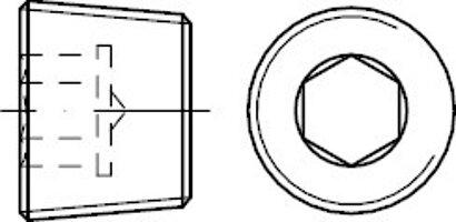 DIN 906 Stahl 5.8 keg.-Fein galvanisch verzinkt Verschlussschrauben