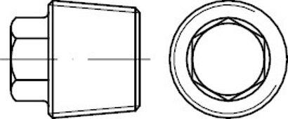 DIN 909 Stahl 5.8 keg.-Fein Verschlussschrauben mit Außensechskant