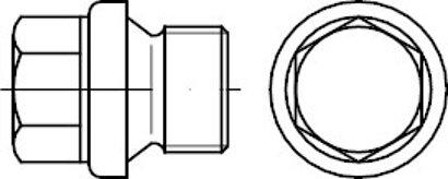 DIN 910 Stahl 5.8 galvanisch verzinkt zyl.-Fein Verschlussschrauben