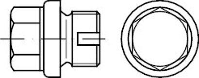 DIN 910 1.4571 zyl.-Rohr EG (A 5) Verschlussschrauben mit Bund