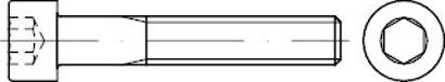 DIN 912 Stahl 8.8 galvanisch verzinkt Zylinderschrauben mit Innensechskant