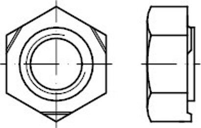 DIN 929 Stahl Sechskant-Schweißmuttern