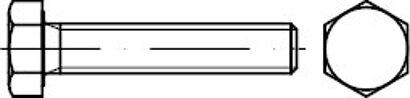 DIN 933  8.8 gal. verz. Sechskantschraube GbK