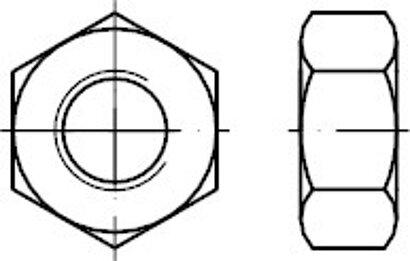 DIN 934 8 galvanisch verzinkt Sechskantmuttern
