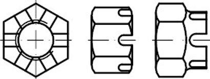 DIN 935-1 10 Kronenmuttern