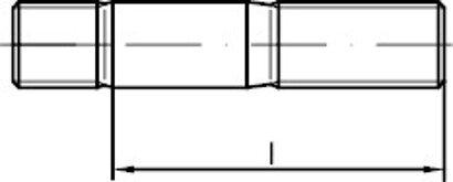 DIN 939 Stahl 8.8 Stiftschrauben, Einschraubende = 1,25 d