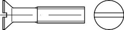 ISO 2009 Messing blank gedreht Senkschrauben mit Schlitz