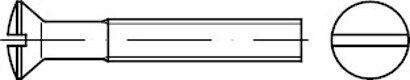 DIN 964 A 2 Linsensenkschrauben mit Schlitz