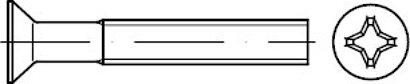 DIN 965 Stahl 4.8 H galvanisch vz Senkschrauben mit Phillips-Kreuzschlitz H