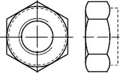DIN 980 A 2 Form V Sechskantmuttern mit Klemmteil, Ganzmetallmuttern, einteilig
